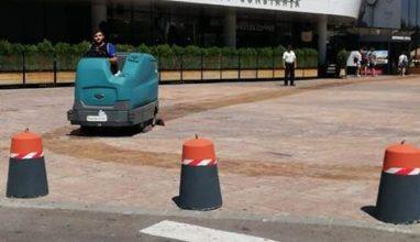 maturare si spalare mecanizata a spatiului exterior – city mall constanta – handyman international